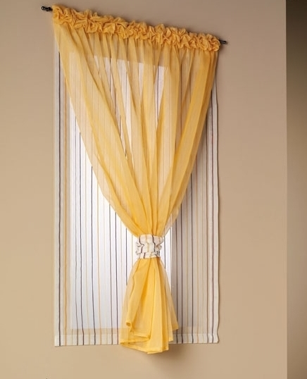 Tende da interni a vetro con doppio velo cattani vicenza for Idee tende a vetro