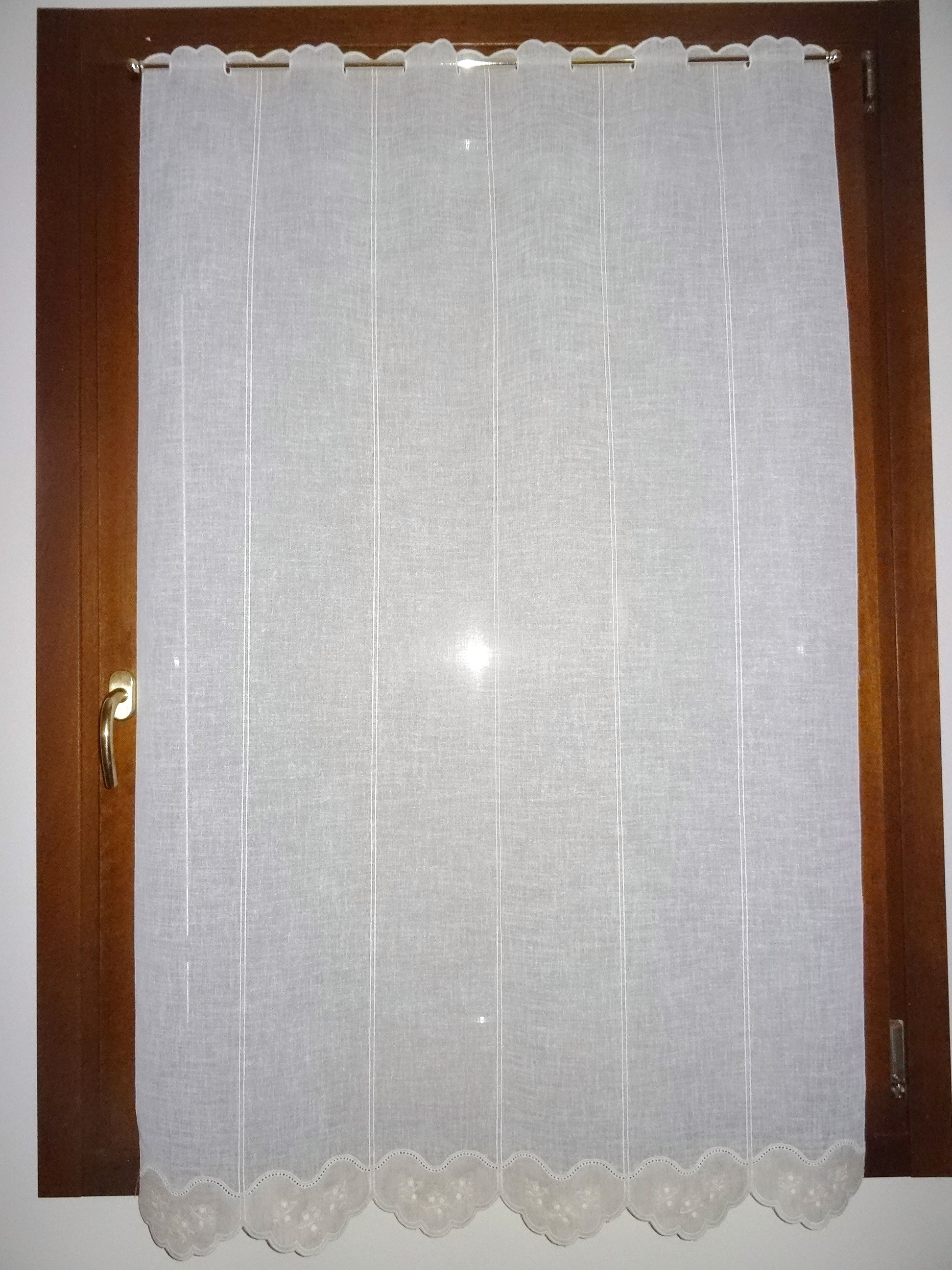 Tende casa a vetro confezionata altezza cm 148 230 - Larghezza porta finestra ...